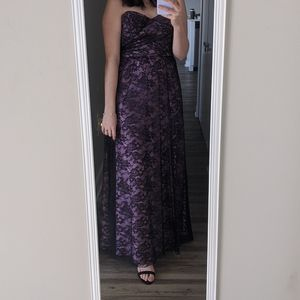 Alfred Angelo Maxi Ballroom Dress - Purple Lace
